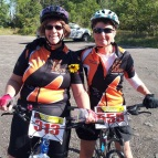 Sunflowers Fiona and Sue at the 2013 Big Move Cancer Ride